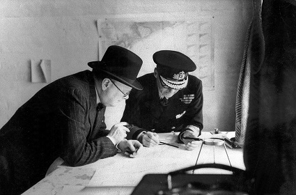 historic photo of D-Day planning, 1944