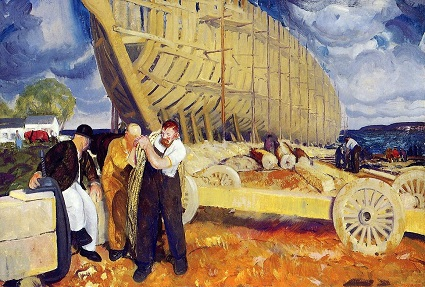 George Wesley Bellows, Builders of Ships (19160