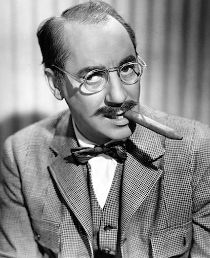 photography of Groucho Marx