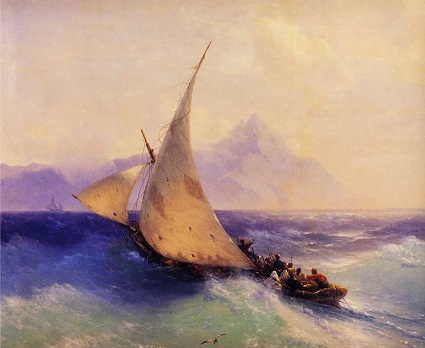 Rescue at Sea by Ivan Konstantinovich Aivazovsky (Russian, 1817-1900)-
