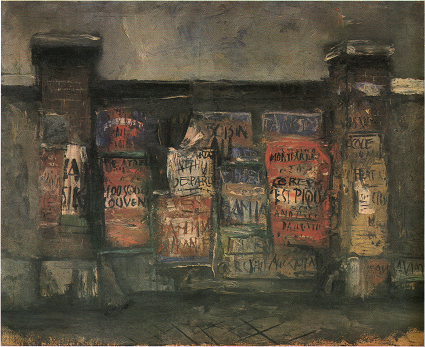 Saeiki Yuzo, Gate with Advertisements (1925)