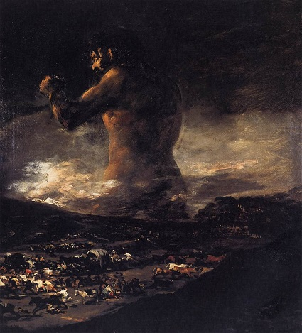 The Giant by Goya [PD-US] public domain
