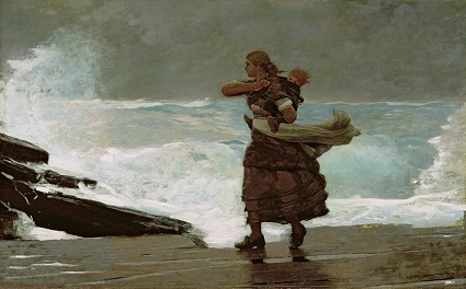The Gale (1883) by Winslow Homer (American, 1836-1910)