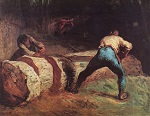 Jean Francois Millet, The Wood Sawyers (1850-1852)
